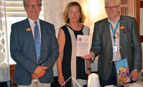 Reconocimiento al Rotary Club Stockholm Arlanda